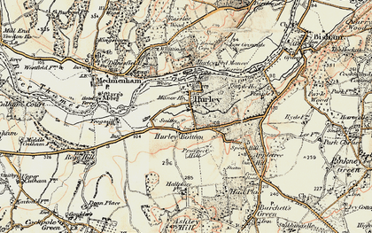 Old map of Hurley in 1897-1909