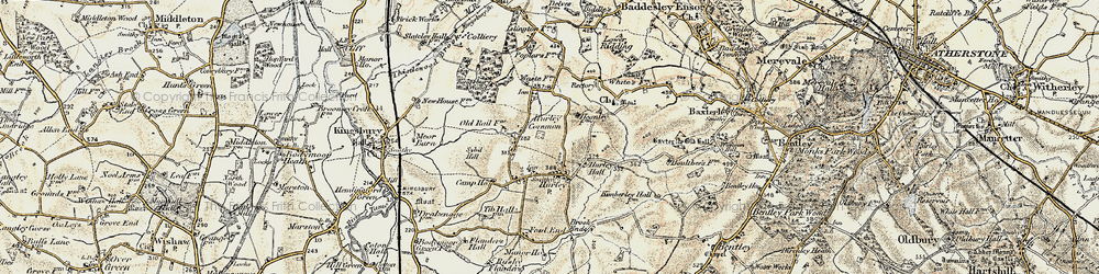 Old map of Hurley in 1901-1902