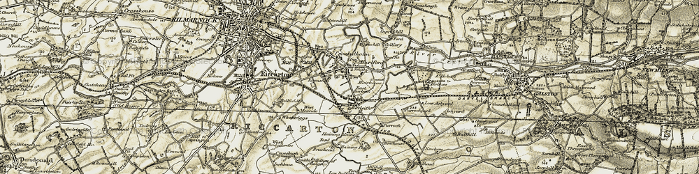 Old map of Hurlford in 1905-1906