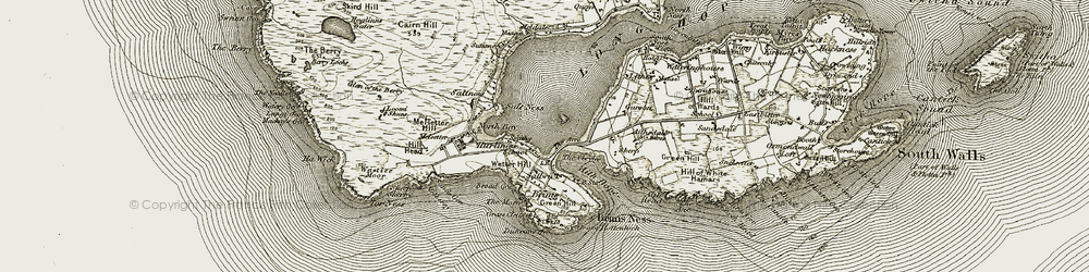 Old map of Aith Hope in 1912