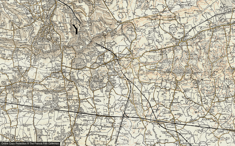 Old Map of Hurst Green, 1898-1902 in 1898-1902
