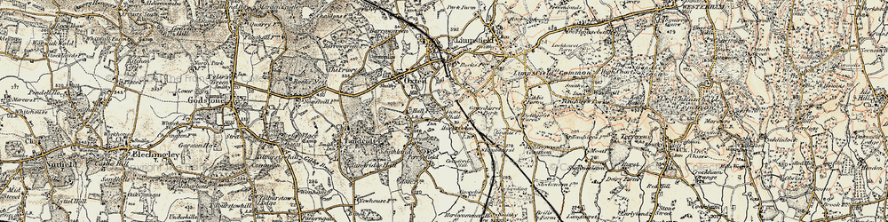 Old map of Hurst Green in 1898-1902