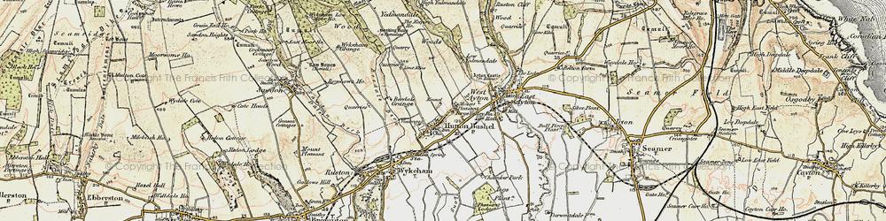 Old map of Yedmandale Woods in 1903-1904