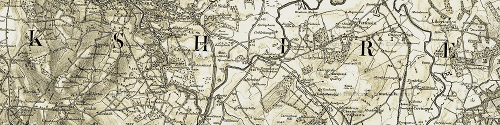 Old map of Langloch in 1904-1905