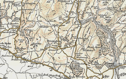 Old map of Bagbury in 1902-1903