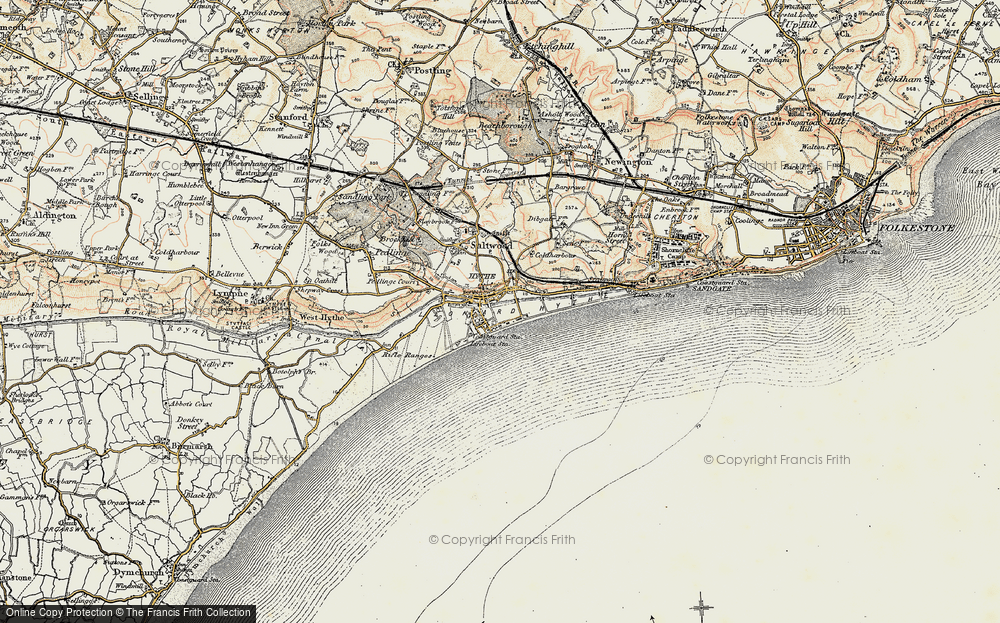 Old Map of Hythe, 1898-1899 in 1898-1899