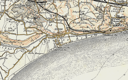 Old map of Hythe in 1898-1899