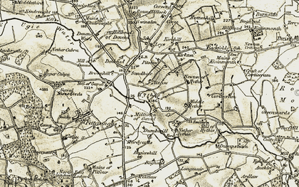 Old map of Leys in 1909-1910