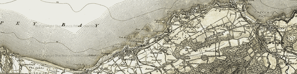 Old map of West Muck in 1910
