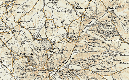 Old map of Ibberton in 1897-1909