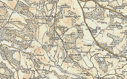 Old map of Ibstone in 1897-1898