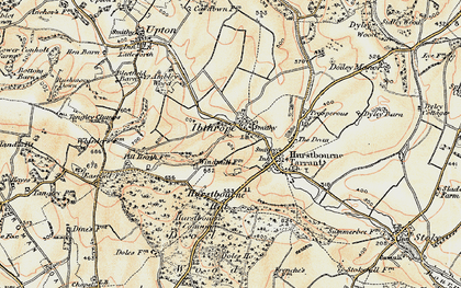 Old map of Windmills in 1897-1900