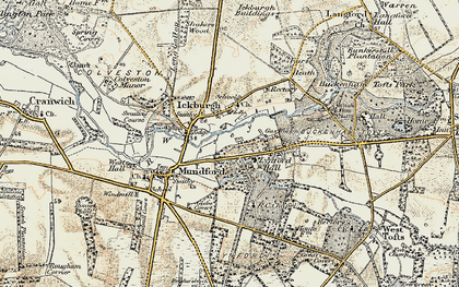 Old map of Ickburgh in 1901-1902