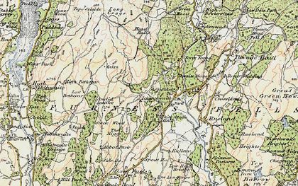 Old map of Ash Slack in 1903-1904