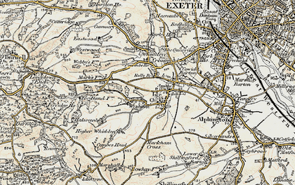 Old map of Ide in 1899