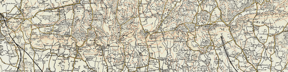 Old map of Ide Hill in 1898-1902