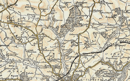 Old map of Idless in 1900