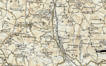 Old map of Winneyhill in 1902