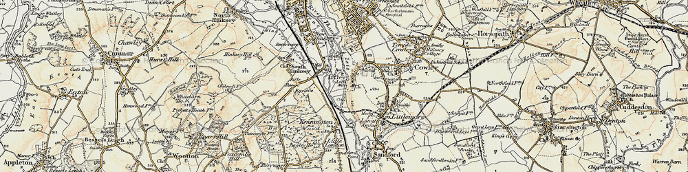 Old map of Iffley in 1897-1899