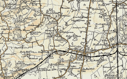Old map of Ifield in 1898-1909