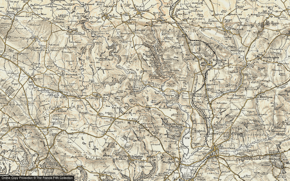 Old Map of Ilam, 1902 in 1902