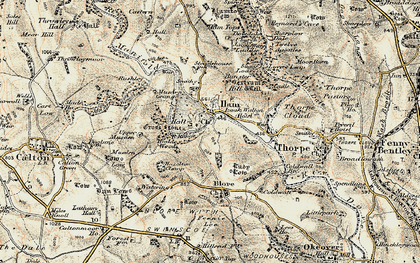 Old map of Ilam in 1902