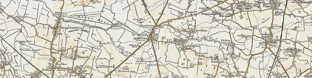 Old map of Ilchester in 1899