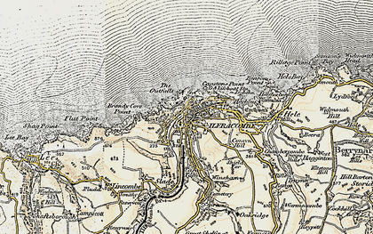 Old map of Langleigh in 1900