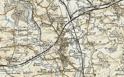 Old map of Ilkeston in 1902-1903