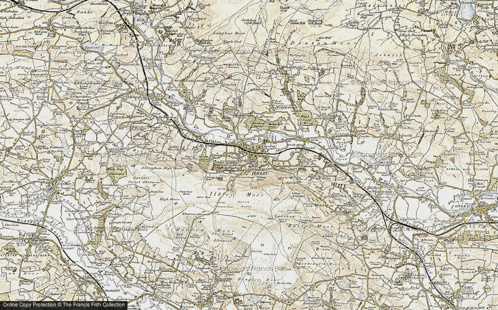 Old Map of Historic Map covering White Wells in 1903-1904