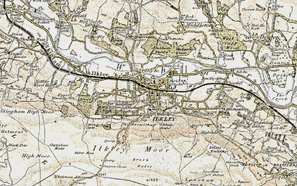 Old map of Whetstone Gate in 1903-1904