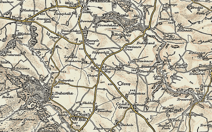 Old map of Illand in 1900