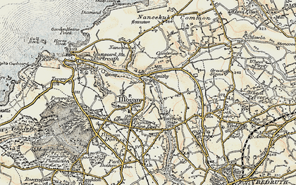 Old map of Illogan in 1900