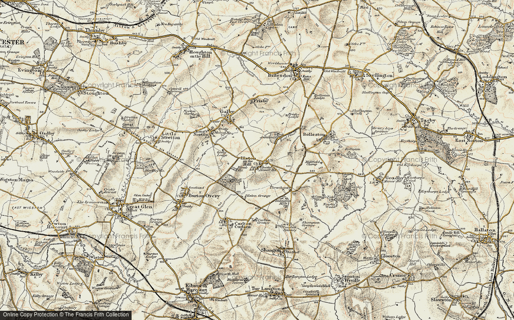 Old Map of Historic Map covering Ashlands in 1901-1903