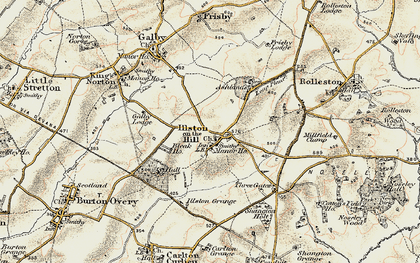 Old map of Ashlands in 1901-1903
