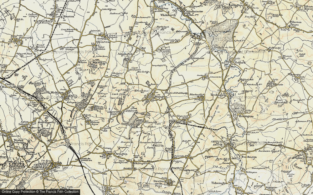 Old Map of Ilmington, 1899-1901 in 1899-1901