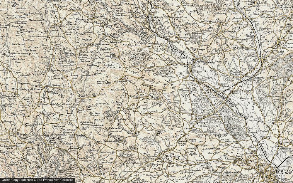 Old Map of Historic Map covering Lenda in 1899-1900