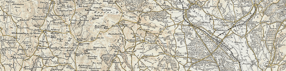 Old map of Willis's Cross in 1899-1900