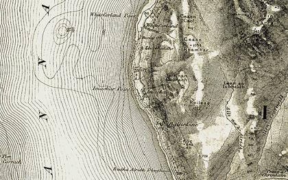Old map of Lean an Tubhaidh in 1905-1906