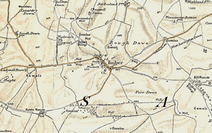Old map of Imber in 1898-1899