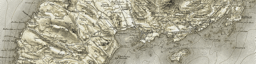 Old map of An Curran in 1905-1906
