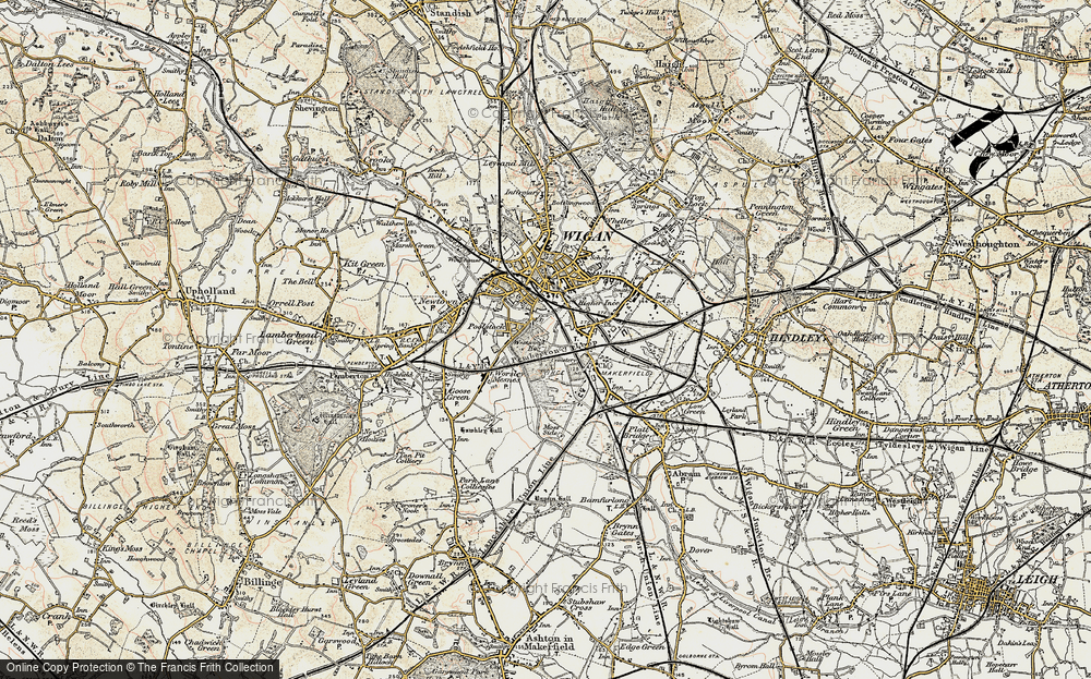 Old Map of Ince in Makerfield, 1903 in 1903