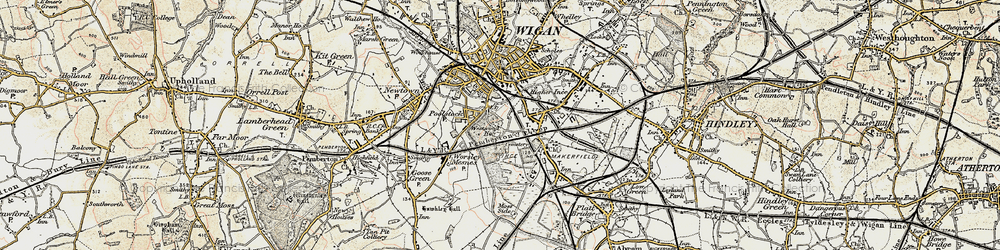 Old map of Ince in Makerfield in 1903