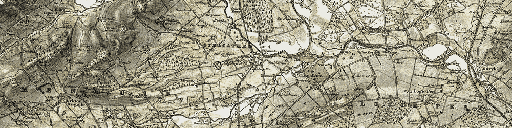 Old map of Westside in 1907-1908