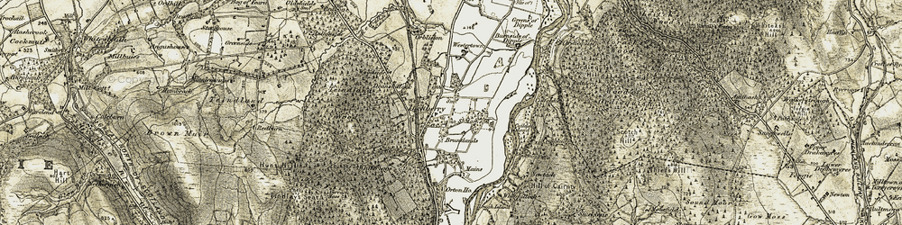 Old map of Westerton in 1910