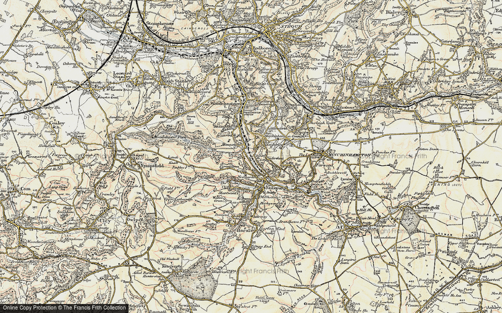 Old Map of Inchbrook, 1898-1900 in 1898-1900