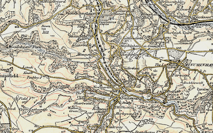 Old map of Inchbrook in 1898-1900