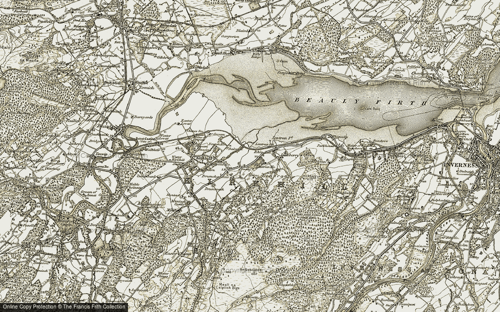 Old Map of Historic Map covering Balcarse in 1908-1912