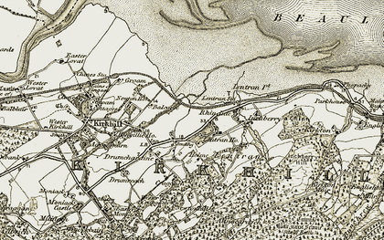 Old map of Lentran Ho in 1908-1912
