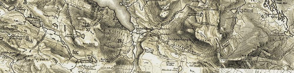 Old map of Allt a' Chalda Mòr in 1910-1912